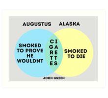 Alaska/Augustus Venn Diagram Art Print