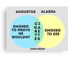 Alaska/Augustus Venn Diagram Canvas Print