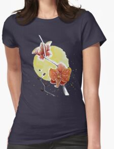 Orchid watercolour painting Vectorized Womens Fitted T-Shirt