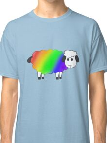 Rainbow Equality Sheep, LGBT Gay Pride Parade Swag, unique rainbow gifts Classic T-Shirt