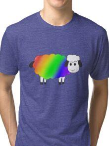 Rainbow Equality Sheep, LGBT Gay Pride Parade Swag, unique rainbow gifts Tri-blend T-Shirt