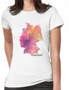 Germany map Womens Fitted T-Shirt