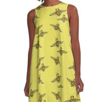 Lots of Bees   A-Line Dress