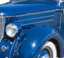 Blue 1936 Ford Phaeton Convertible Antique Car Sticker