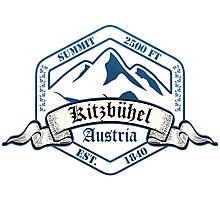 Kitzbuhel Ski Resort Austria Photographic Print
