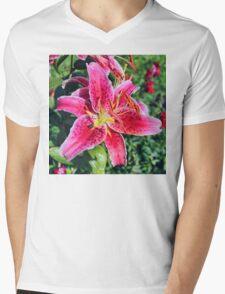 Stargazer Lily Mens V-Neck T-Shirt