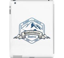 Hintertuxer Ski Resort Austria iPad Case/Skin