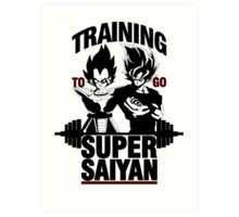 Training to go Super Saiyan v2 Art Print