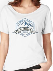Le Massif Ski Resort Quebec Women's Relaxed Fit T-Shirt