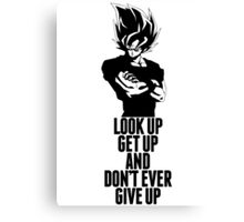 Don't Ever Give Up Canvas Print