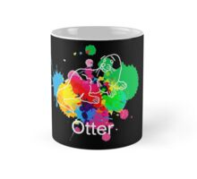 Otter Mug Paint (Black) Mug