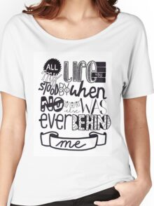 One Direction // Drag Me Down (Lyrics) Women's Relaxed Fit T-Shirt