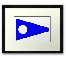 Number 2 Pennant Framed Print