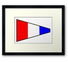 Number 3 Pennant Framed Print