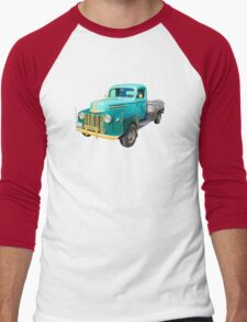 Old Flat Bed Ford Work Truck Men's Baseball ¾ T-Shirt