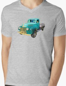 Old Flat Bed Ford Work Truck Mens V-Neck T-Shirt