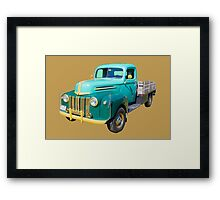 Old Flat Bed Ford Work Truck Framed Print