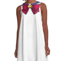 Pixel Sailor Moon Scout Collar A-Line Dress