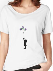 flower balloons Women's Relaxed Fit T-Shirt
