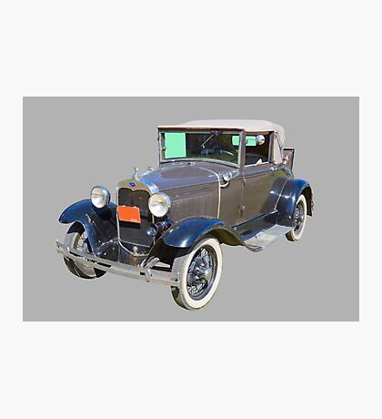 Model A Ford Roadster Convertible Antique Car Photographic Print