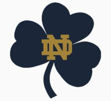 Notre Dame Blue Clover Baby Tee