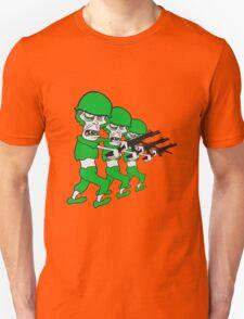 soldaten team party crew marschieren maschinengewehr militär army krieg zombie laufen gehen hässlich comic cartoon lustig horror halloween  Unisex T-Shirt