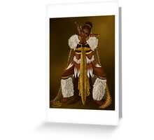 Zulu Warrior Elf Greeting Card