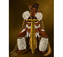 Zulu Warrior Elf Photographic Print