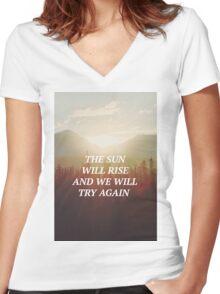 twenty one pilots Truce Lyric Art Women's Fitted V-Neck T-Shirt