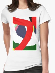 Fun abstract design by Moma Womens Fitted T-Shirt