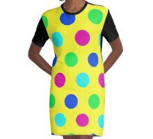 POLKA DOTTED-YELLOW 2 Graphic T-Shirt Dress