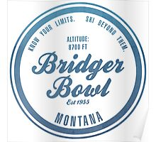Bridger Bowl Ski Resort Montana Poster