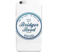 Bridger Bowl Ski Resort Montana iPhone Case/Skin