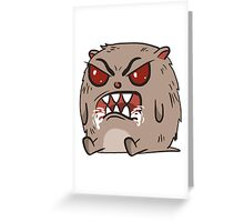 angry hamster Greeting Card
