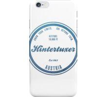 Hintertuxer Ski Resort Austria iPhone Case/Skin