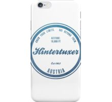 Hintertuxer Ski Resort Austria iPhone Case/Skin