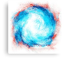 BLUE TO RED TWIRL Canvas Print