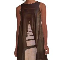 sepia stairwayy A-Line Dress