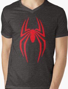 Spiderman Logo vintage style grain faded Mens V-Neck T-Shirt