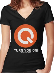 Turn you on qlass elite Women's Fitted V-Neck T-Shirt
