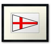 Number 8 Pennant Framed Print