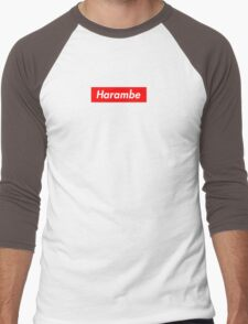 Vintage Harambe Men's Baseball ¾ T-Shirt