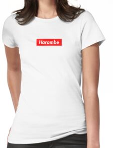 Vintage Harambe Womens Fitted T-Shirt