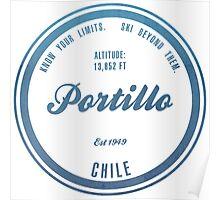 Portillo Ski Resort Chile Poster
