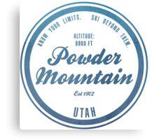 Powder Mountain Ski Resort Utah Canvas Print
