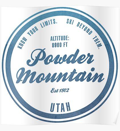 Powder Mountain Ski Resort Utah Poster