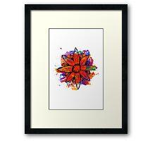 Flower splashed in watercolor Framed Print