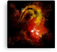 DEVIL HORN ON ABSTRACT Canvas Print