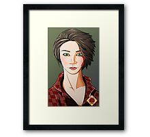 Green Eyes Framed Print