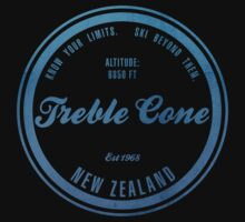 Treble Cone Ski Resort New Zealand Kids Tee